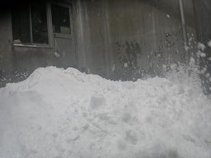 今シーズン初雪下ろし。