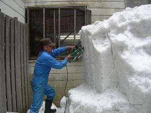 雪を解体。