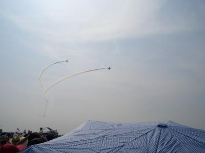 曲芸飛行と飛行雲