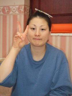 妊娠34週の佐藤 典子さん。ビクスにて体重1Kg減