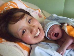 ソフロロジー分娩にて出産