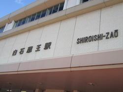 白石蔵王駅の菊