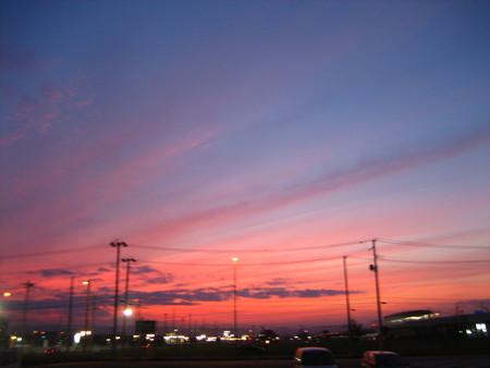 夕日が綺麗だった♪