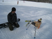 兄さん初スキー♪