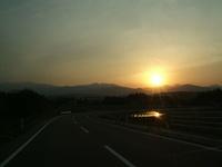 昨日の夕陽♪