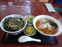 焼肉丼&ラーメンセット 盛岡食堂