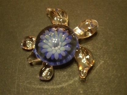 ガラス細工 『花ウミガメ』