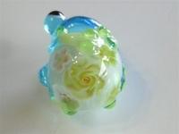 とんぼ玉 『花束花かえる』