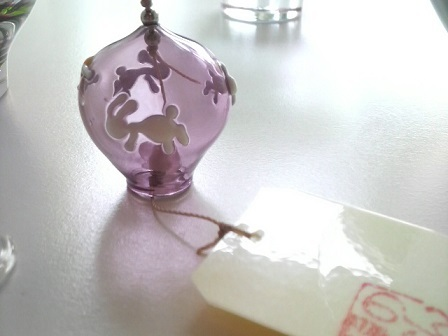ガラス細工 『兔の風鈴』