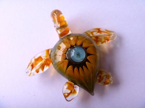 妖艶ガラス 『月と海亀』