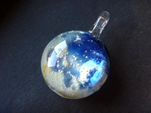 妖艶ガラス 『青い月』