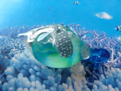 ガラス細工 『美ら海のしずく~ジンベエザメ~』