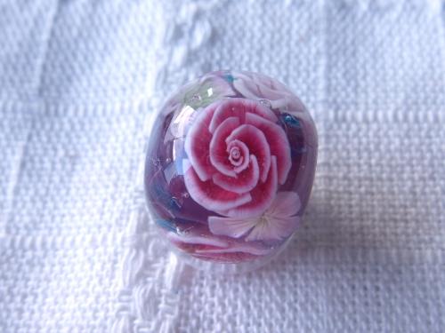 とんぼ玉 『薔薇』
