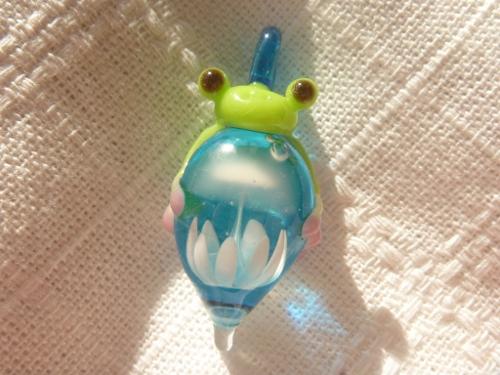 ガラス細工  『カエルとクラゲ』