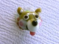 とんぼ玉 『豆柴犬とかえる』
