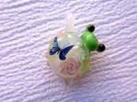 ガラス細工 『蝶と薔薇とかえる』