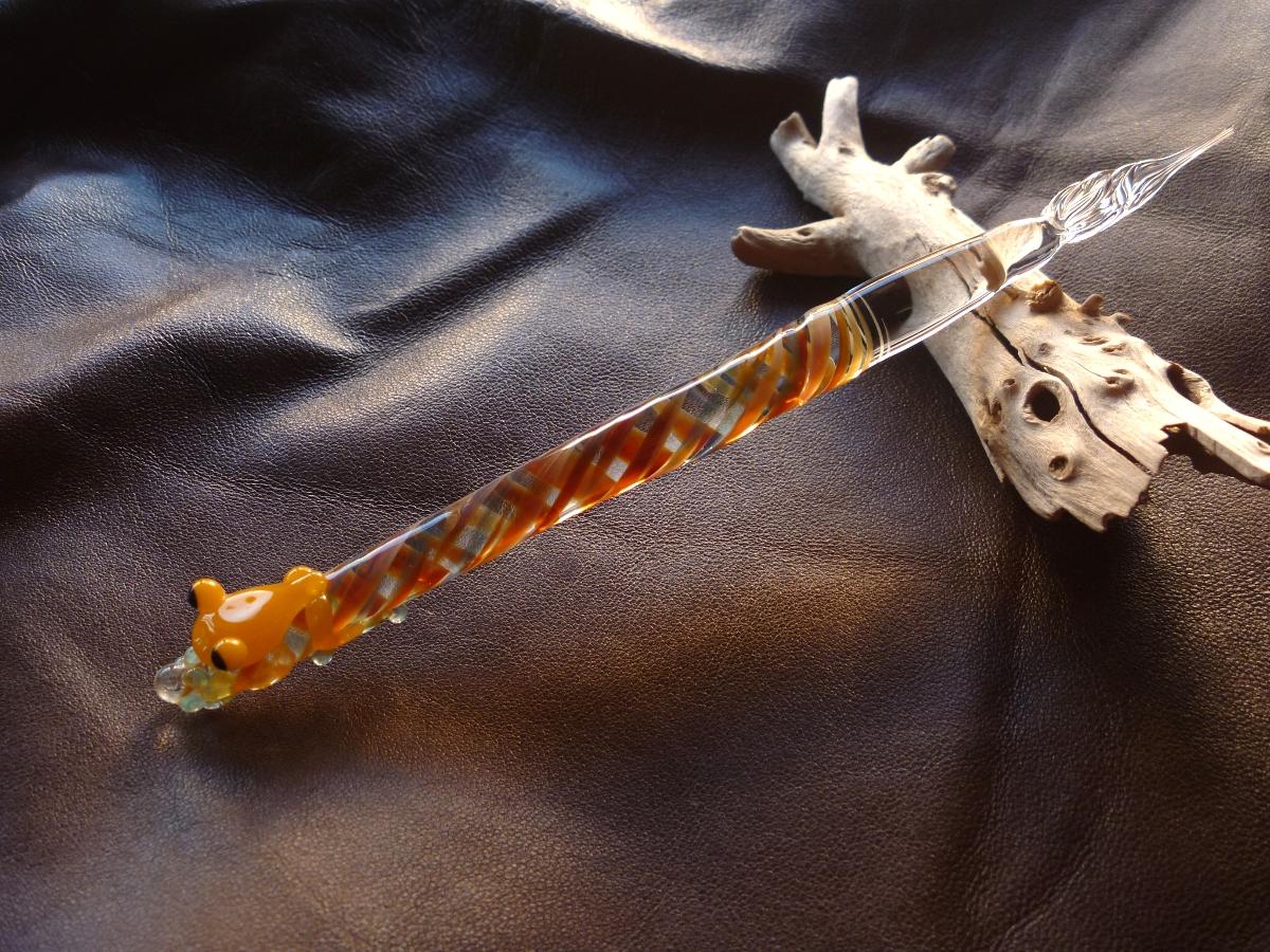 妖艶ガラス 『カエルペン』