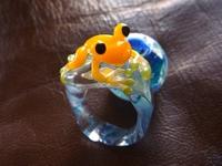 妖艶ガラス 『かえるの指輪』