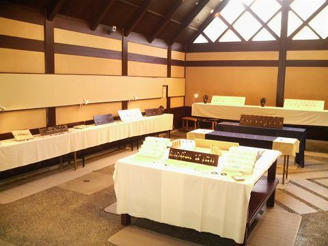 山寺での作品展