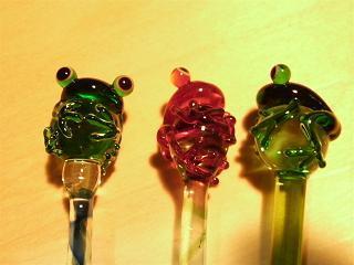 カエルのガラスペン