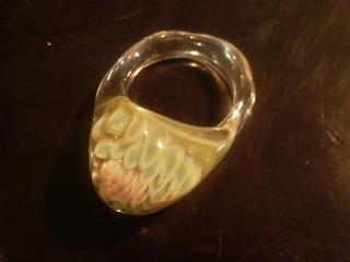 8弁の花パーツ、アウトサイドインの指輪