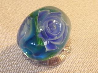野原の蝶(試作)と薔薇玉