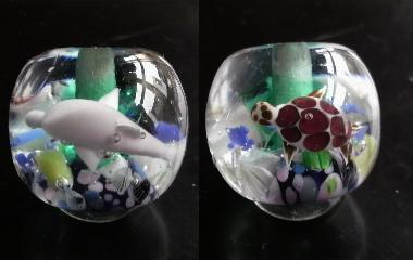 美ら海玉(ウミガメ、、ピンクイルカ)