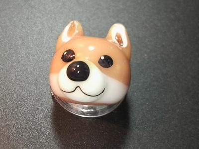 とんぼ玉 『柴犬』