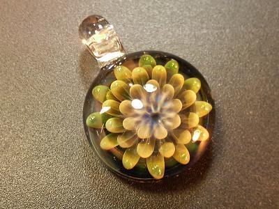 妖艶ガラス 『黄金の花』