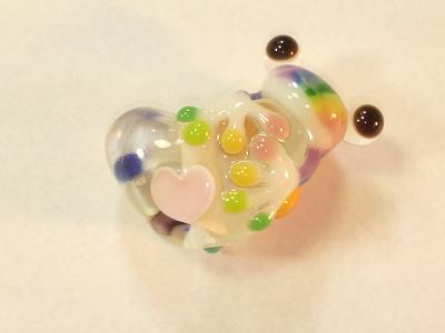 とんぼ玉 『虹心かえる』