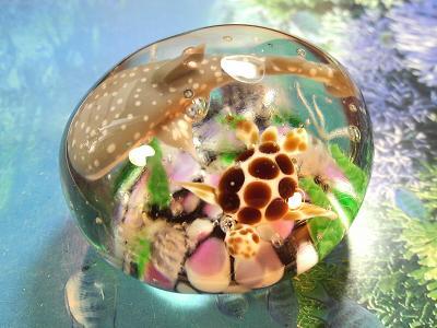 ガラス細工 『美ら海のペーパーウェイト』