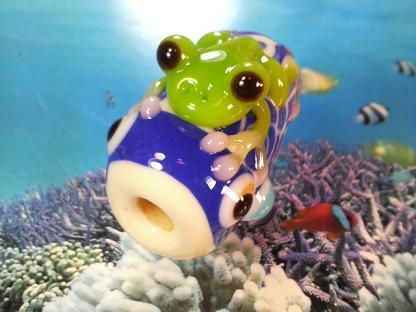 とんぼ玉 『かえるの鯉のぼり』失敗