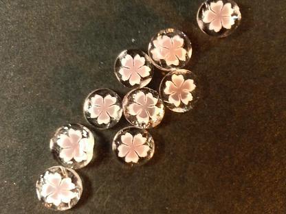 体験用の桜のパーツ