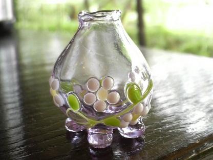 ガラス細工 『野花の1輪挿し』試作