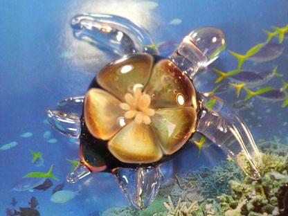 妖艶ガラス 『花ウミガメ』