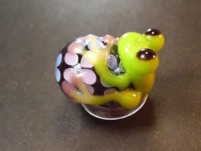 とんぼ玉 『紫陽花かえる』 と 作品展