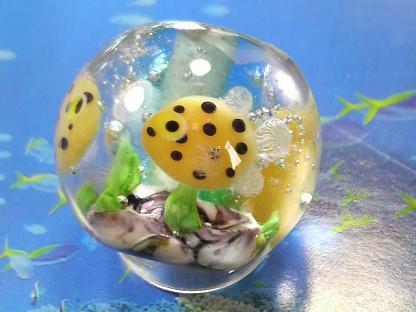 とんぼ玉 『美ら海』 ハコフグ