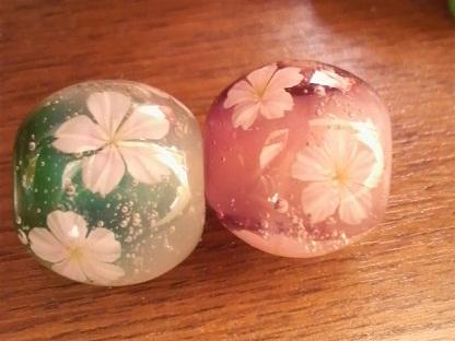 とんぼ玉 『五分桜』