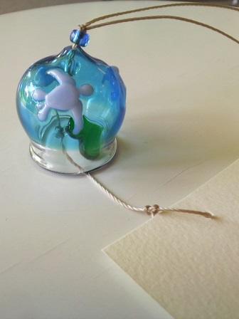 ガラス細工 『ウミガメの風鈴』