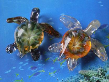妖艶ガラス 『ウミガメ』