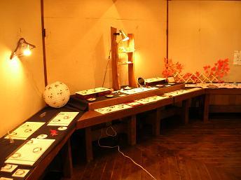 木の家での作品展の様子