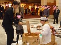 緑水亭 餅つきの歴史