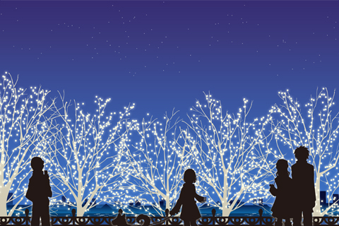 【女川町イルミネーション「灯~TOMOSHIBI~」】が開催されています