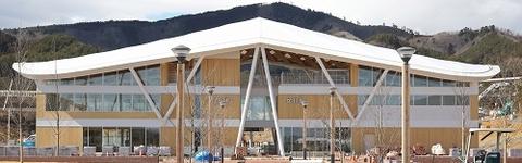 JR石巻線全線開通、女川駅新駅舎