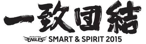 チームスローガン【Smart&Spirit 2015 一致団結】