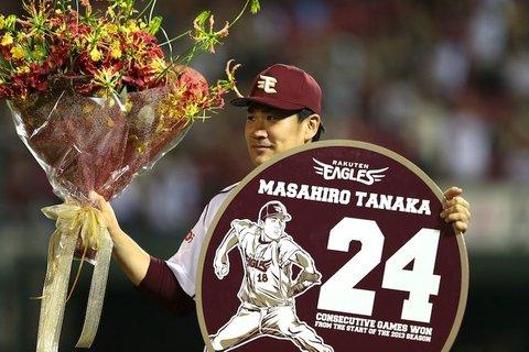 田中将大投手24勝無敗の大記録でレギュラーシーズン終了!