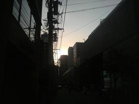 黄昏時の街・・・仙台市内