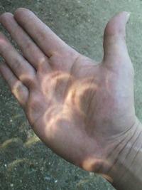 ♪手~のひらに太陽を~・・・部分日食