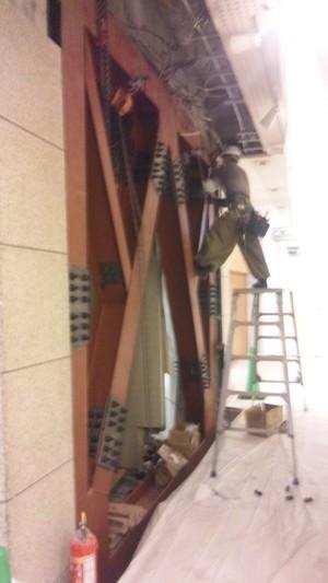 耐震工事の状況です