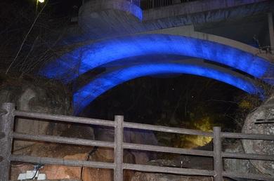 今夜4/27は、磊々峡(らいらいきょう)ライトアップ